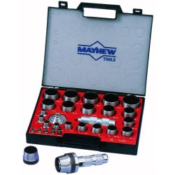 "Mayhew Tools - 66006 - 10"" High-Grade Tool Alloy Hollow Punch Set&#x3b; Number of Pieces: 31"