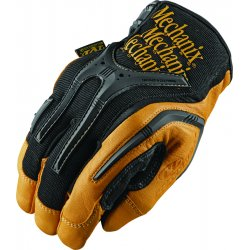 MechanixWear - CG40-75-011 - Mechanix Wear X-Large Black And Brown CG Full Finger Genuine Leather Heavy Duty Mechanics Gloves With Low Profile Cuff, Reinforced Fingertips, TPR Knuckle And Fingers Protection And Multi-Zone Padded Palm