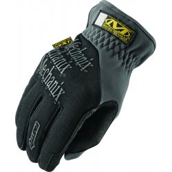 MechanixWear - MFF-05-010 - Mechanix Wear Large Black And Gray FastFit Full Finger Synthetic Leather Mechanics Gloves With Elastic Cuff, Spandex Padded Back, Stretch Panels