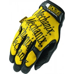 MechanixWear - MG-01-010 - Mechanix Wear Large Black And Yellow The Original Full Finger Synthetic Leather Mechanics Gloves With Hook And Loop Cuff, Spandex Back, Synthetic Leather Palm And Fingertips And Reinforced Thumb