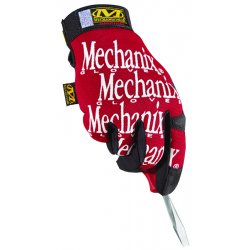MechanixWear - MG02011 - Mechanix Wear Gloves - 11 Size Number - X-Large Size - Spandex, Thermoplastic Rubber (TPR) Closure, Synthetic Leather, Lycra - Red, Black - Breathable, Durable, Comfortable, Hook & Loop Closure, Machine Washable - For