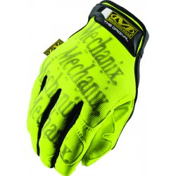 MechanixWear - SMG-91-010 - Mechanix Wear Large Hi-Viz Yellow Safety Original Full Finger Synthetic Leather Mechanics Gloves With Hook And Loop Cuff, Clarino Synthetic Leather Padded Palm, Reinforcement Panels And 3M Scotchlite Reflective Ink Graphic