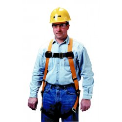 Miller / Honeywell - T4577/UAK - L/XL Construction, General Industry Full Body Harness, 5000 lb. Tensile Strength, 400 lb. Weight Cap