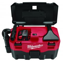 Milwaukee Electric Tool - 0880-20 - Wet/Dry Cordless Vacuum, 2 gal., 18V (no battery, charger)