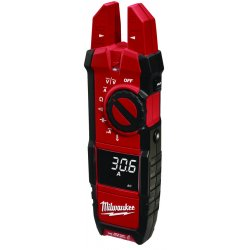 Milwaukee Electric Tool - 2206-20 - Clamp On Digital Clamp Meter, -40 to 752F Temp. Range, 5/8 Jaw Capacity, CAT IV 600V