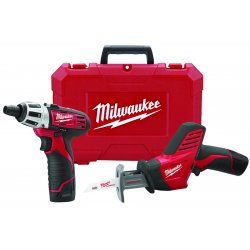 Milwaukee Electric Tool - 2490-22 - Cordless Combination Kit, 12.0 Voltage, Number of Tools 2