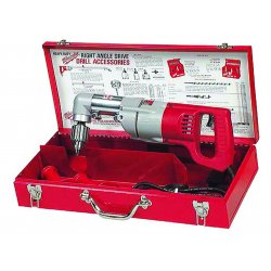 """Milwaukee Electric Tool - 31076 - Milwaukee 3107-6 D-Handle Right Angle Drill Kit - Driver Drill - 0.50"""" Chuck"""