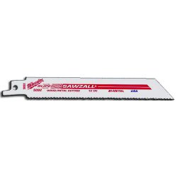 "Milwaukee Electric Tool - 48-01-6094 - 12"" X 3/4"" X .050"" Milwaukee Super Sawzall Universal Style Bi-Metal All Purpose Cutting Reciprocating Saw Blade With 8/12 Variable Thin Kerf Profile Teeth Per Inch (50 Per Pack)"