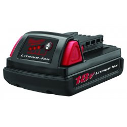 Milwaukee Electric Tool - 48-11-1815 - Milwaukee M18 Redlithium 18 V Lithium-Ion Compact Battery (For Use With M18 Compact Series Of Power Tools)