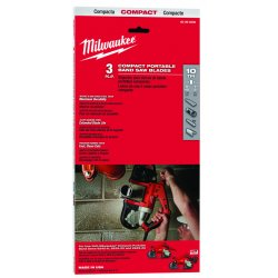 Milwaukee Electric Tool - 48-39-0507 - 10 Tpi Compact Portableband Saw Blade 100 Pack
