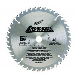 "Milwaukee Electric Tool - 48404108 - Milwaukee 24 Tooth Circular Saw Blade - 6.5"" Diameter - Carbon Steel"
