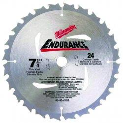 "Milwaukee Electric Tool - 48-40-4120 - 7-1/4"" Carbide Combination Circular Saw Blade, Number of Teeth: 24"
