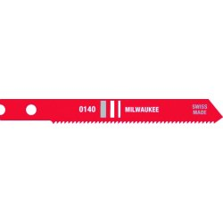 "Milwaukee Electric Tool - 48-42-0140 - 2 3/4"" Milwaukee Universal Style Jig Saw Blade With 24 Teeth Per Inch (5 Per Pack)"