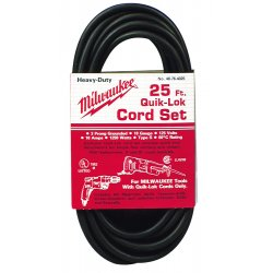 Milwaukee Electric Tool - 48-76-5010 - Milwaukee 10' X 16/2 AWG Quik-lok Type S Cord (For Use With Electric Drill/Driver, Hammer Drill And Impact Wrench), ( Each )