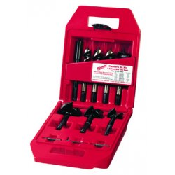 Milwaukee Electric Tool - 49-22-0065 - Milwaukee 7/8' - 2 9/16' Wrought Cast Iron 7 Piece Stringer Bead Self-Feed Bit Kit
