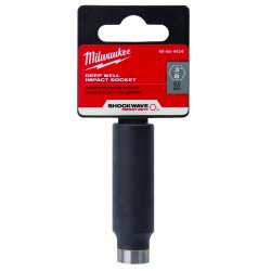 "Milwaukee Electric Tool - 49-66-4424 - Shockwave 3/8"" Deep Well- Thin Wall- Recessed"