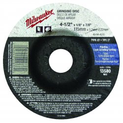 "Milwaukee Electric Tool - 49-94-4520 - 4-1/2x1/4x7/8"" Cutoff Wheel For Ss Or Metal T27"