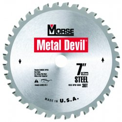 M.K. Morse - CSM848NSC - Morse 8' X 5/8' 5800 RPM 48 TPI Metal Devil NXT Carbide Tipped Circular Saw Blade (For Metal Cutting), ( Each )