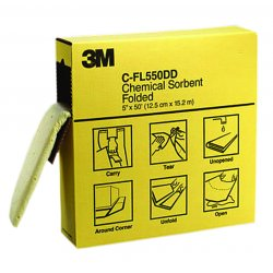 3M - C-FL550DD - Heavy, Synthetic Fibers, Polypropylene, Polyester Absorbent Roll, Fluids Absorbed: Universal, 50 ft.