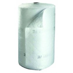 3M - HP-500 - Heavy, Synthetic Fibers, Polypropylene, Polyester Absorbent Roll, Fluids Absorbed: Oil-Based Liquids