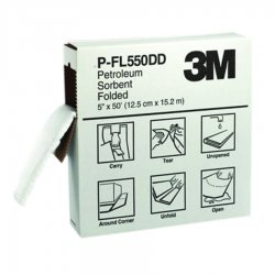 3M - P-FL550DD - Heavy, Synthetic Fibers, Polypropylene, Polyester Absorbent Roll, Fluids Absorbed: Oil-Based Liquids
