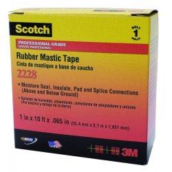 """3M - 09656 - 2228 2""""x10' Rubber Mastic Tape, Ea"""