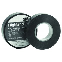 "3M - 500-16720 - Highland Vinyl Commercial Grade Electrical Tape, 3/4"" x 66ft, 1"" Core"