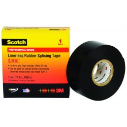 "3M - 130C-1X30FT - Scotch 130C Linerless Splicing Tape, 1"" x 30ft"
