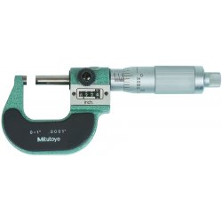 "Mitutoyo - 193-211 - Friction Thimble Digit Micrometer, 0-1"" Range (In./mm)"