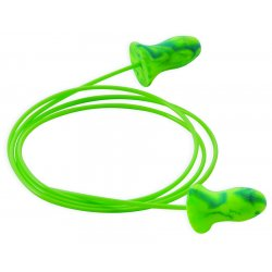 Moldex - 6632 - 28dB Disposable Contoured-Shape Ear Plugs&#x3b; Corded, Blue, Green, S