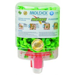 Moldex - 6634 - 28dB Disposable Contoured-Shape Ear Plugs with Dispenser&#x3b; Without Cord, Green, S