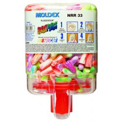 Moldex - 6645 - 33dB Disposable Tapered-Shape Ear Plugs with Dispenser&#x3b; Uncorded, Multicolor, Universal