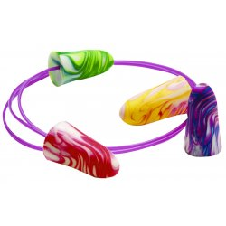Moldex - 6654 - Earplug Disposable With Cord Sparkplugs 32 Noise Reduction Rating Moldex Ansi S3.19-1974 Multiple-color, Ea