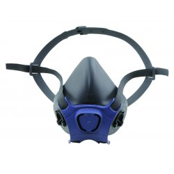 Moldex - 7003 - Moldex Large Black Thermoplastic Elastomer Half Mask APR Dual Cartridge Facepiece With Yolk and Cradle Suspension And Bayonet Connection (1 Each Per Bag)