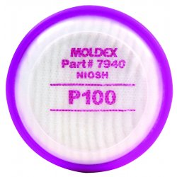 Moldex - 7940 - Moldex 7940 P100 Filter Disk For 7000 And 9000 Series Respirators (1 Pair Per Bag)