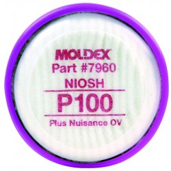 Moldex - 7960 - P100 Filter Disk With Nuisance Organic Vapor For Moldex 7000 Or 9000 Series, Pr