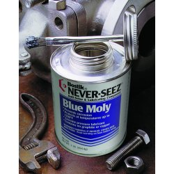 Never-Seez - NBBT-8 - 8oz. Brush Top Blue Molylubricant 141780
