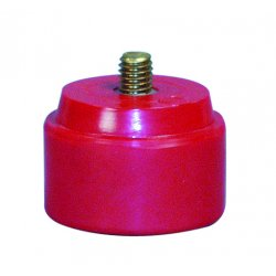 """Nupla - 15-093 - 10m-n 1"""" Dia Red Med Soft Face Hammer Tip, Ea"""