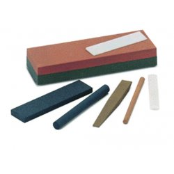 "Norton - 61463685565 - Norton 8"" X 2"" X 1"" Coarse/Fine India IB8 Aluminum Oxide Rectangular Combination Grit Benchstone With Anniversary Box"