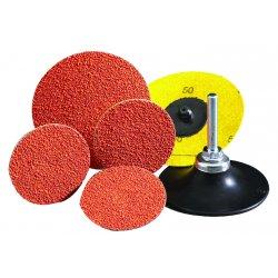 "Norton - 63642595476 - Norton 2"" X 3-Ply 60 Grit Medium Grade Ceramic Alumina SG BLAZE R980P Speed-Lok Orange TR (Type III) Cloth Disc"