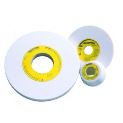 "Norton - 66243529145 - Norton 3"" X 1"" X 1/2"" 38A60-MVBE Aluminum Oxide GEMINI Vitrified Type 1 Straight Grinding Wheel For Use On Steel"