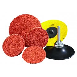 "Norton - 66261043421 - Norton 2"" X 3-Ply 120 Grit Fine Grade Conformable Polyester Ceramic Alumina SG BLAZE R980P Speed-Lok Orange TR (Type III) Cloth Disc"