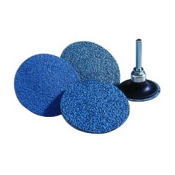 "Norton - 66261138661 - Norton 3"" X 2-Ply 60 Grit Coarse Grade Zirconia Alumina NorZon Plus Bluefire R884P Speed-Lok Blue TS (Type II) Coated Cloth Disc"