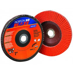 "Norton - 66261183496 - Norton 7"" X 7/8"" 60Y Grit Blaze R980P Ceramic Alumina Type 29 Conical Flap Disc With Fiberglass Backing And Self Lubricating, Advanced Supersize Treatment"