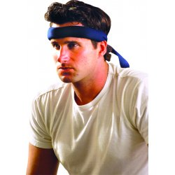 Occunomix - 954-018 - OccuNomix Navy Blue MiraCool Cotton Headband With Tie Closure
