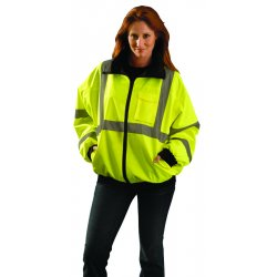 Occunomix - LUX-ETJBJ-YXL - OccuNomix X-Large Yellow Fleece/Polyester/PU Coating Bomer Jacket, ( Each )