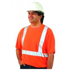 Occunomix - LUX SSTP2 OM - T-shirt Occulux Reflective Medium Orange Polyester Occunomix Intl Ansi 107 Class Ii, Ea