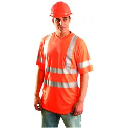 Occunomix - LUX SSTP3 OL - T-shirt Occulux Reflective Large Orange Polyester Occunomix Intl Ansi 107 Class Iii, Ea