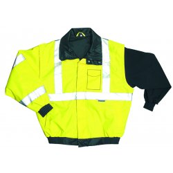 Occunomix - LUX-TJBJ-Y3X - OccuNomix 3X Yellow Polyester/Fleece/PU Coating Bomer Jacket, ( Each )