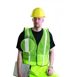 Occunomix - LUX-XGTM-Y4X - OccuNomix 4X Hi-Viz Yellow 100% Polyester Mesh Vest, ( Each )